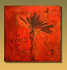 11 - red palm - William Spencer III - paintings